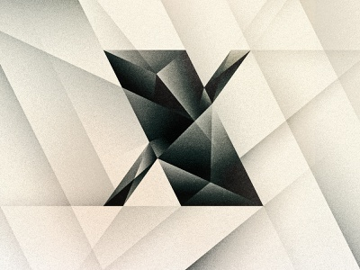 X cubism noir art deco x design texture 36daysoftype drop cap letter illustrator typography lettering type vector illustration