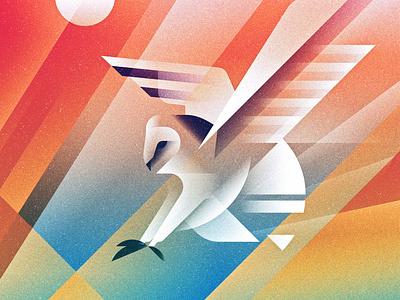 breaking light flight nature bird light texture gradient adobe illustration illustrator vector owl