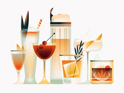 fancy wancy bartender bar alcohol beverage booze cocktail drink design texture illustrator vector illustration