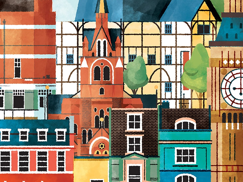 London WIP city wip illustrator photoshop watercolor vector illustration union chapel united kingdom uk england london