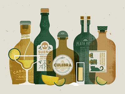 Tequila  texture drink cocktail margarita mexico tequila liquor vector illustration