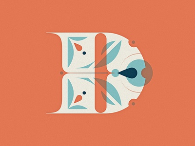 36 Days of Type - D pattern letter vector illustration capital typography dropcap d lettering type 36daysoftype
