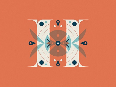 36 Days of Type - H pattern letter vector illustration capital typography dropcap h lettering type 36daysoftype