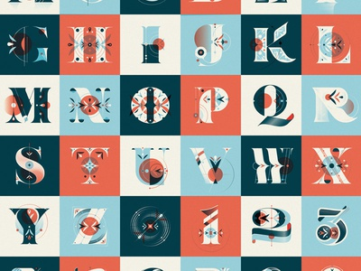 36 Days of Type 04 vector typography type pattern lettering letter illustration dropcap number capital collection 36daysoftype