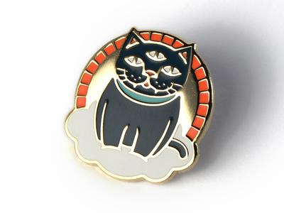 """""""Mystic Cat"""" Enamel Pin"""