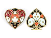 Queen & Ace Enamel Pins