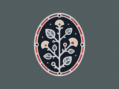Floral Cameo logo illustration illustrator plant flower eucalyptus leaf enamel pin nature vector badge icon