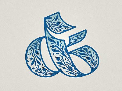 Ampersand illustration goodtype ornament floral drop cap woodtype ampersand type lettering letter