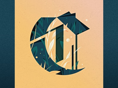 C illustration goodtype ornament floral drop cap logotype 36 days of type c type lettering letter