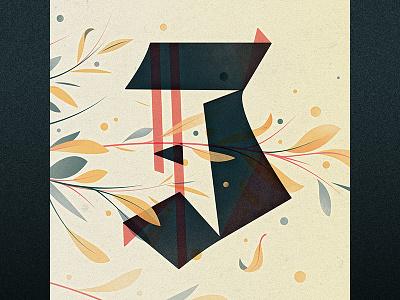 J illustration goodtype ornament floral drop cap logotype 36 days of type j type lettering letter