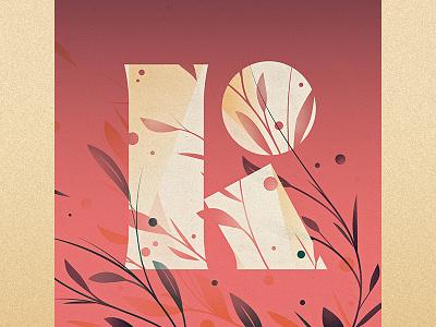 K illustration goodtype ornament floral drop cap logotype 36 days of type k type lettering letter