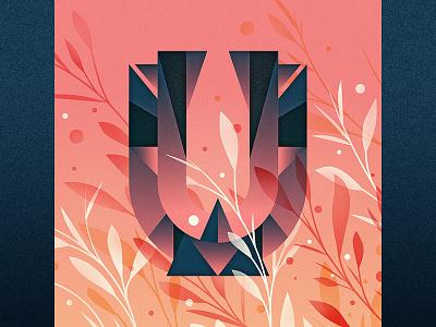 U illustration goodtype ornament floral drop cap logotype 36 days of type u type lettering letter
