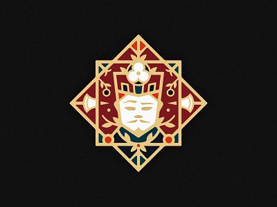 Jack of Diamonds playing card card deck suit mustache crown poppy flower halberd diamonds jack illustrator floral ornament icon vector design logo illustration