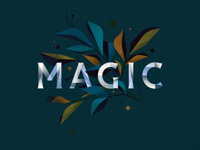 M A G I C magic design goodtype texture floral illustrator ornament letter typography vector lettering type illustration