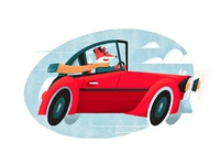 Fox Driving a Whip