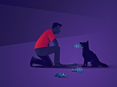 Patterns For Data Fetching In React javascript programming development web logrocket data react fetch dog design vector illustrator illustration