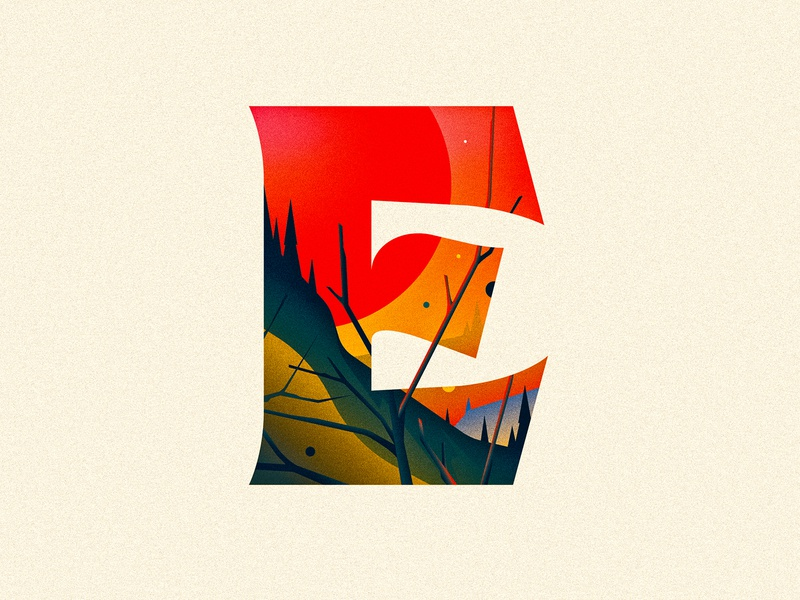 E e 36 days of type dropcap design texture 36daysoftype drop cap ornament illustrator letter typography vector lettering type illustration