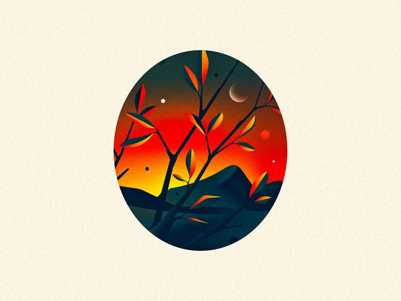 0 (Zero) sunset dusk 0 zero design texture 36daysoftype drop cap illustrator letter typography vector lettering type illustration