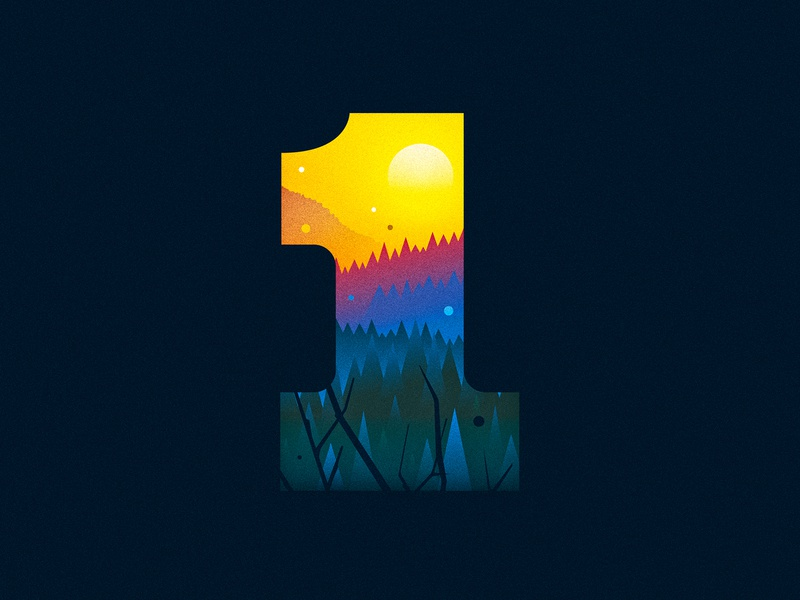 1 (One) forest 1 one design texture 36daysoftype drop cap illustrator letter typography vector lettering type illustration