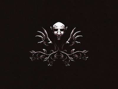 Nosferatu horror spooky halloween nosferatu ipad procreate vampire badge design illustrator illustration