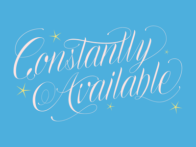 Constantly Available adobe illustrator cc fucking freelancing script lettering lettering