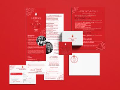 Austin Ed Fund Luncheon Materials print stationery branding design