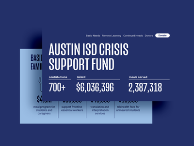 Austin ISD Crisis Support Fund icons website ui ui design