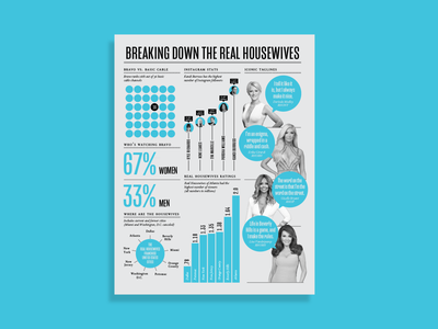 The Real Housewives Infographic data visualization graphic design infographic design infographic