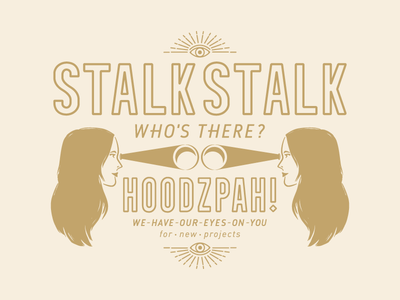 Stalk Stalk hoodzpah freelance design freelance illustrator illustration