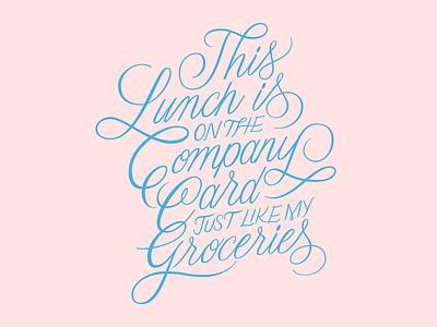 Company Card adobe illustrator cc fucking freelancing lettering script lettering