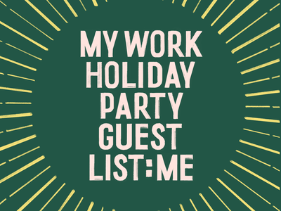 Work Holiday Party brush lettering fucking freelancing hand lettering lettering