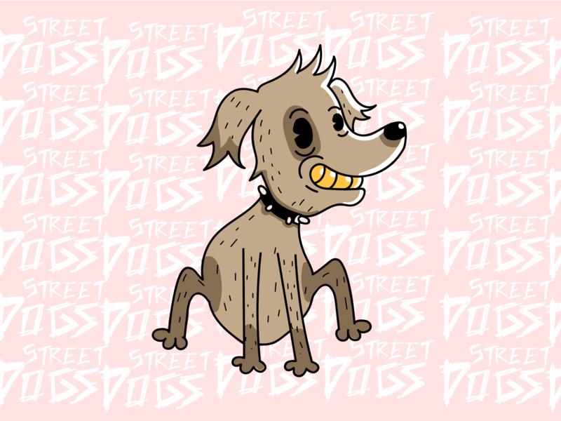 Street Dogs dogs design punkrock punk charactedesign vector illustration
