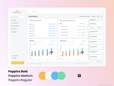 SaaS Dashboard branding 2020 design 2020 trends design2020 clean design dashboard ui invoice design accounting services software dashboard product design saas design saas app software design
