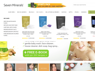 Seven Minerals ux illustration design css shopify