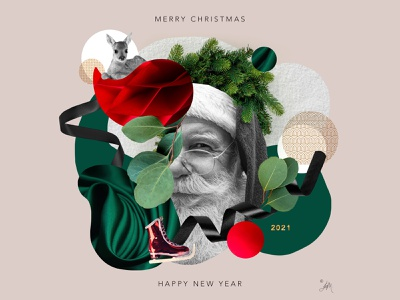 Greeting Card design art wishes visual art xmas card holiday design happy new year graphic card selfpromotion collage card design greeting card newyear