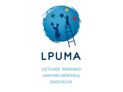 Lithuanian Primary Schools Association education values kids primary school vector illustration flat branding logo
