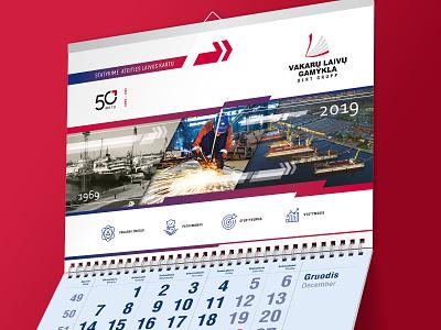 Wall Calendar | 2019 office calendar paper calendar print calendar corporate calendar corporate design christams gift year calendar stationary design wall calendar calendar 2019 calendar design calendar