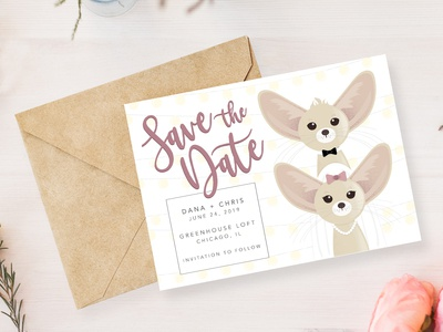 Fennec Fox Save the Date