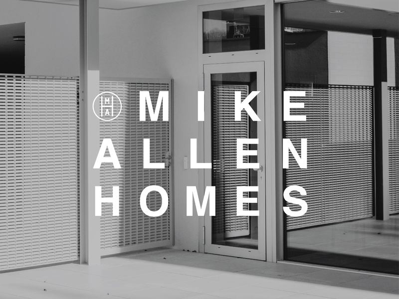 Logo for Mike Allen Homes ad design vector graphic design brand design brand identity logo branding typography