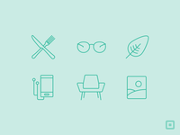Square Market Icons