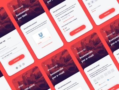 Involves Stage | Sign up mobile ui flat mobile app design mobile ui ux uxui minimal design product design information architecture app