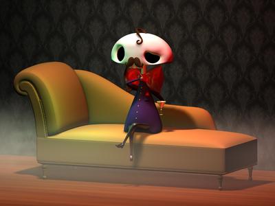 Le Gentleman 3d character design skeleton le gentleman