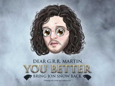 Lil' Jon Snow *BONUS* digital art illustration gülce baycık gulce baycik bringjonsnowback game of thrones got jon snow