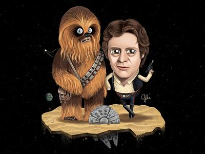 Lil' Chewie & Han Solo