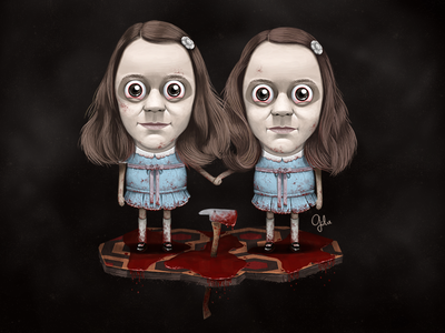 Lil' Grady Twins fan art illustration gulce baycik gülce baycık the shining shining twins shining twins grady twins
