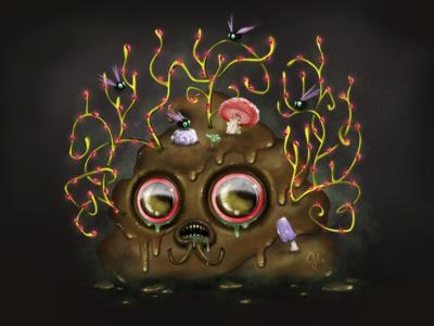 SICK SHIT gülce baycık poop creature concept surreal gulce baycik sick shit illustration