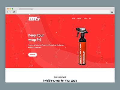 WrapGuard USA single page website hero banner website design automotive
