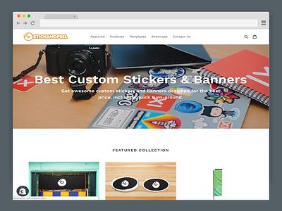 Stick and Peel ecommerce website development website design shopify