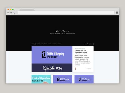 The Roland Saenz Blog christian design christianity website design ghost theme blog header blog design blog