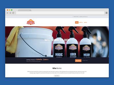 Rev Automotive Landing Page Design web design parallax website single page website website design automotive design automotive